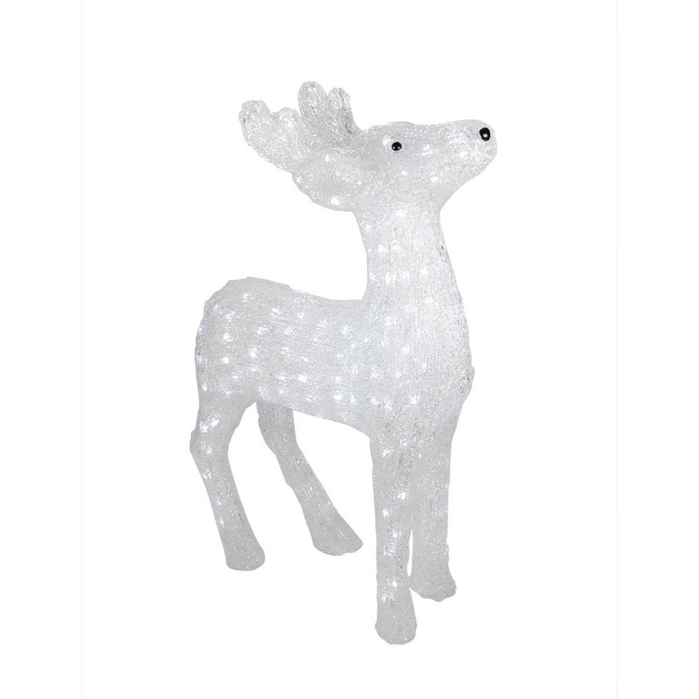 Christmas Lighted Commercial Grade Acrylic Reindeer Display Decoration