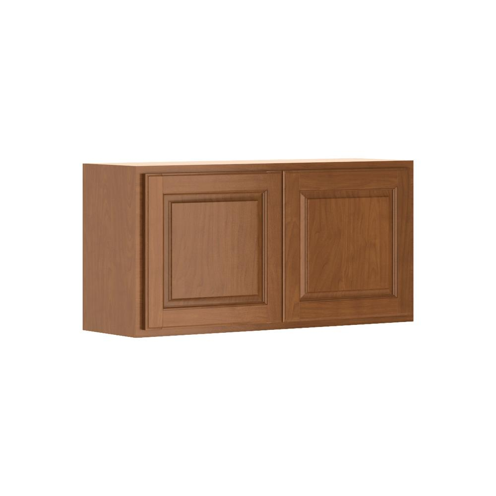 Hampton Bay Kitchen Cabinets Cognac: Hampton Bay Madison Assembled 36x18x12 In. Wall Bridge