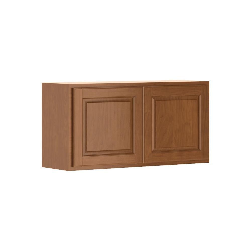 Madison Base Cabinets In Cognac: Hampton Bay Madison Assembled 36x18x12 In. Wall Bridge