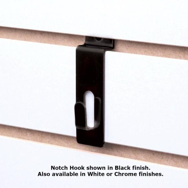 Econoco Black Flush Notch Hook For Gridwall Pack Of 96 Blk Nhk The Home Depot