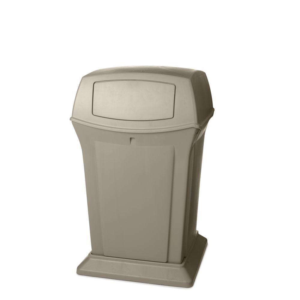 Ranger 45 Gal. Beige 2-Door Trash Can