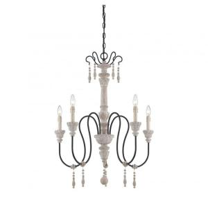 Amelie white wash shabby chic country Vintage Ayana 5light White Washed Driftwood Chandelier Better Homes And Gardens Golden Lighting Jules Collection 6light Antique Ivory Chandelier