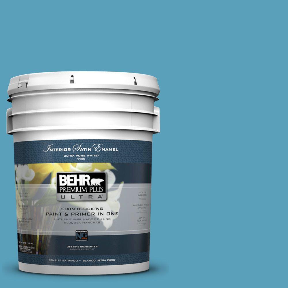 5-gal. #540D-5 Tropical Splash Satin Enamel Interior Paint