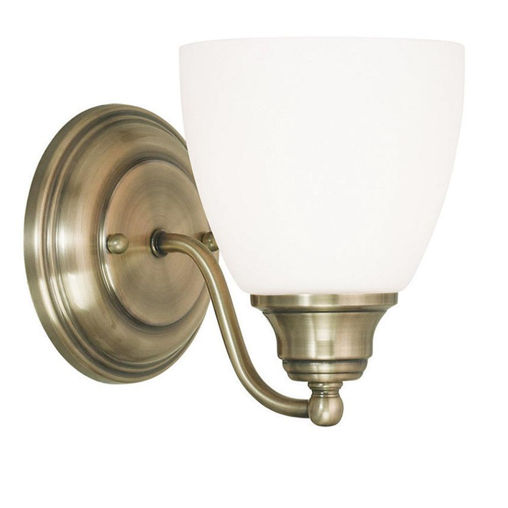 Livex Lighting Somerville 1 Light Antique Brass Wall Sconce
