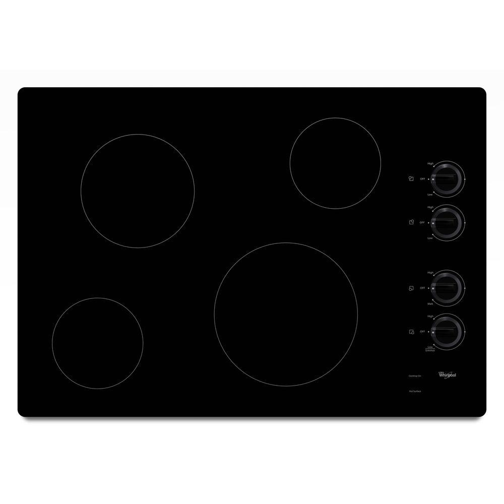 Whirlpool 30 In Radiant Electric Cooktop In Black With 4