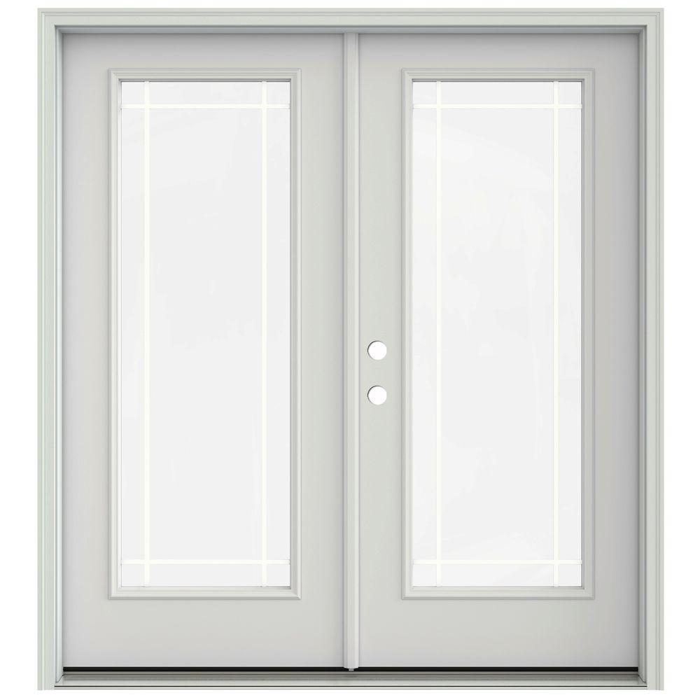 Jeld Wen 72 In X 80 In Primed Prehung Right Hand Inswing 9 Lite French Patio Door With
