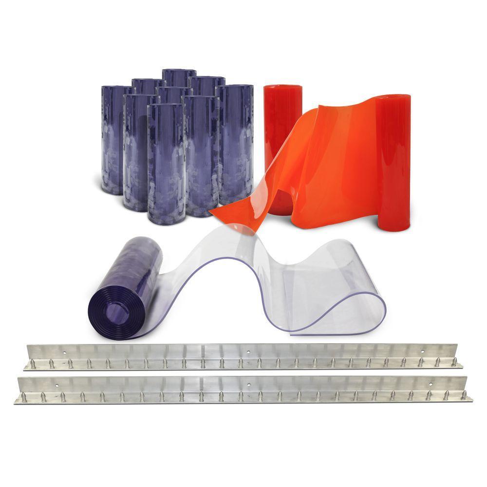 Clear-Flex II 8 ft. x 10 ft. PVC Strip Door Kit