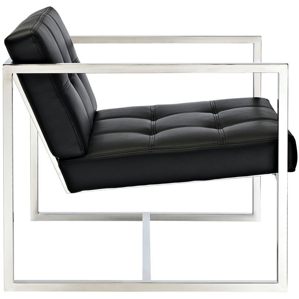 Fine Modway Hover Black Upholstered Vinyl Lounge Chair Eei 263 Uwap Interior Chair Design Uwaporg