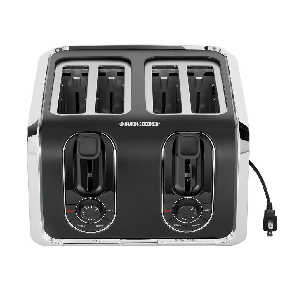 Black & Decker 4-Slice Stainless Steel and Black Toaster by BLACK+DECKER