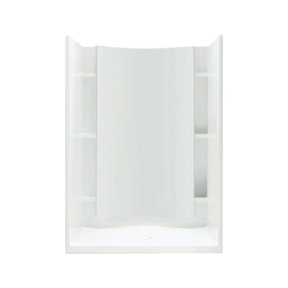 STERLING Accord 36 in. x 42 in. x 77 in. Shower Kit in White ...