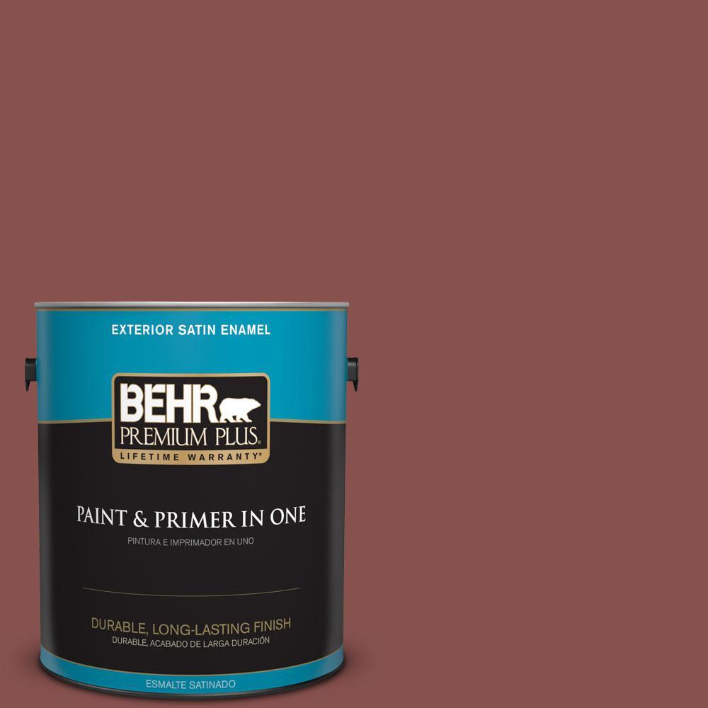 1-gal. #160F-6 Boston Brick Satin Enamel Exterior Paint