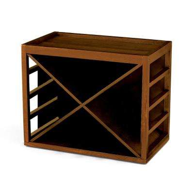12-Bottle X Cube Stack Wine Rack in Walnut Stain
