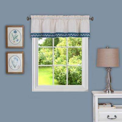 Camden 14 in. L Polyester Valance in Blue