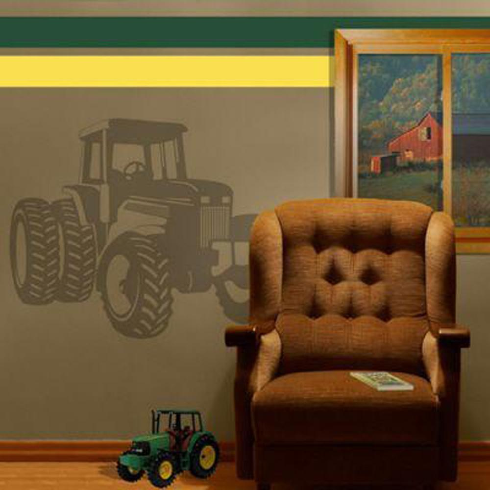 Sudden Shadows 33 in. x 26 in. Tractor Wall Decal