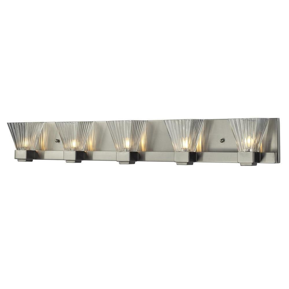 Filament Design Lawrence 5-Light Brushed Nickel Halogen Bath Vanity Light