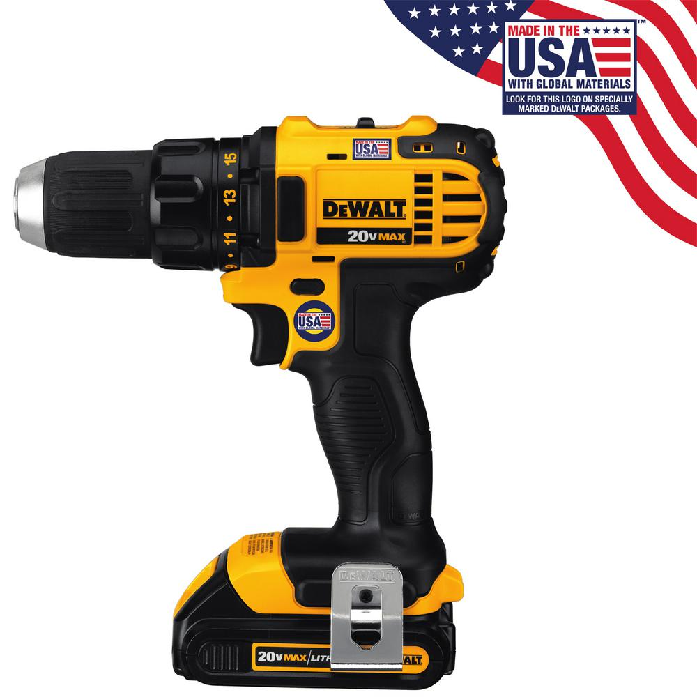 DEWALT 20-Volt MAX Lithium-Ion Cordless Compact Drill/Driver with (2 ...