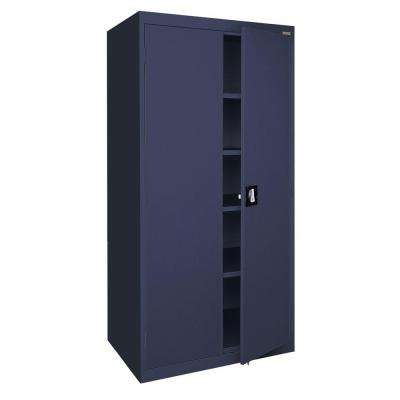 Elite Series 78 in. H x 36 in. W x 18 in. D 5-Shelf Steel Freestanding Storage Cabinet in Navy Blue