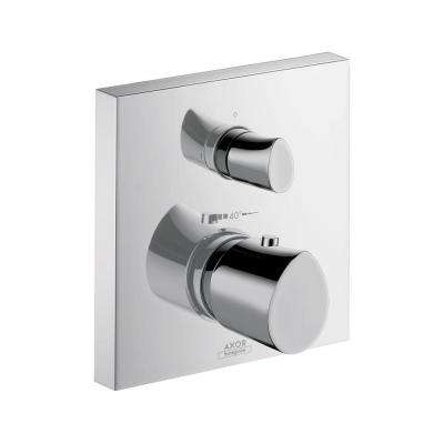 Starck Organic 2-Handle Thermostatic Shower Faucet Trim Kit in Chrome (Valve Not Included)