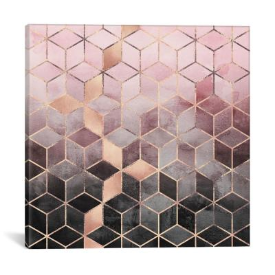 Pink And Grey Cubes by Elisabeth Fredriksson Wall Art