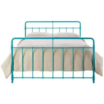 Charming Pennington Turquoise King Bed Frame