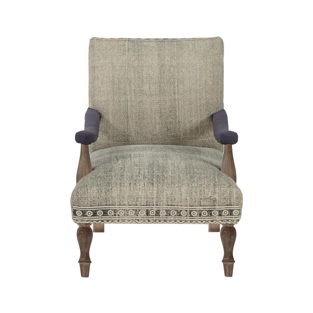 Home Decorators Collection Loki Washed Grey Kilim Arm Chair