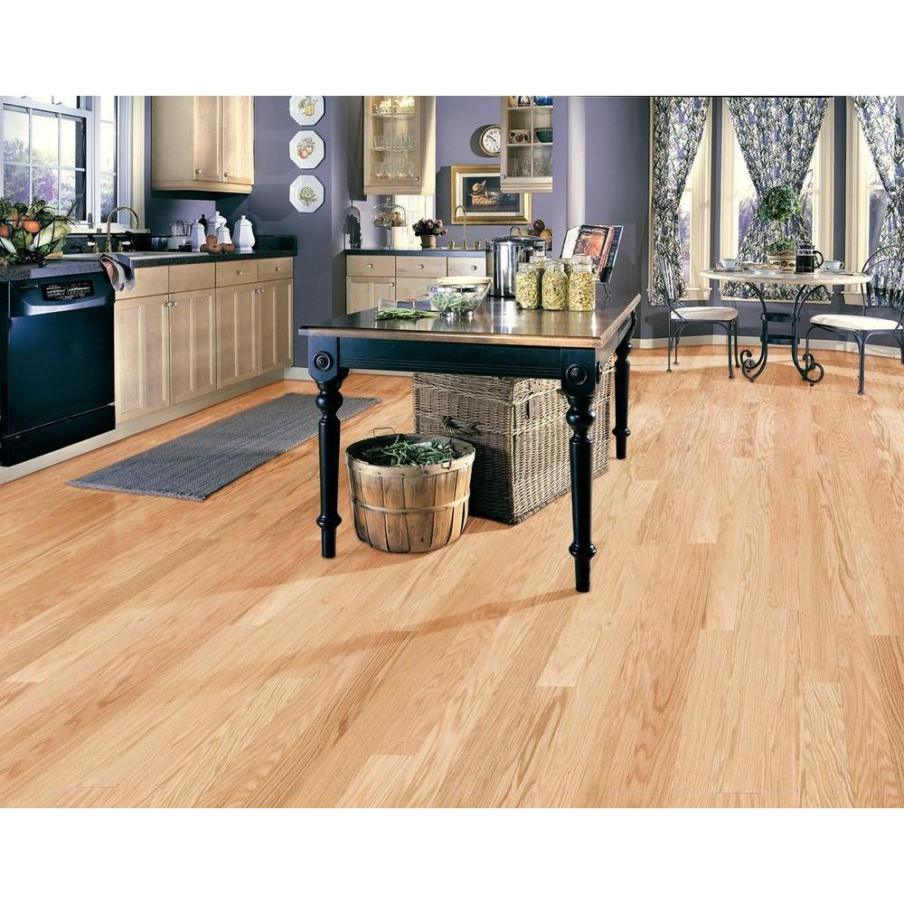 Millstead Red Oak Natural 1 2 In Thick X 5 Wide Random Length Engineered Hardwood Flooring 31 Sq Ft Case