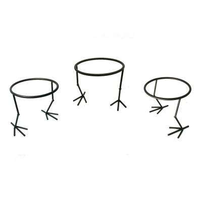 Garden Companions 5.91 in. Dia Copper Steel Bird Pot Ring Stand (3-Pack)