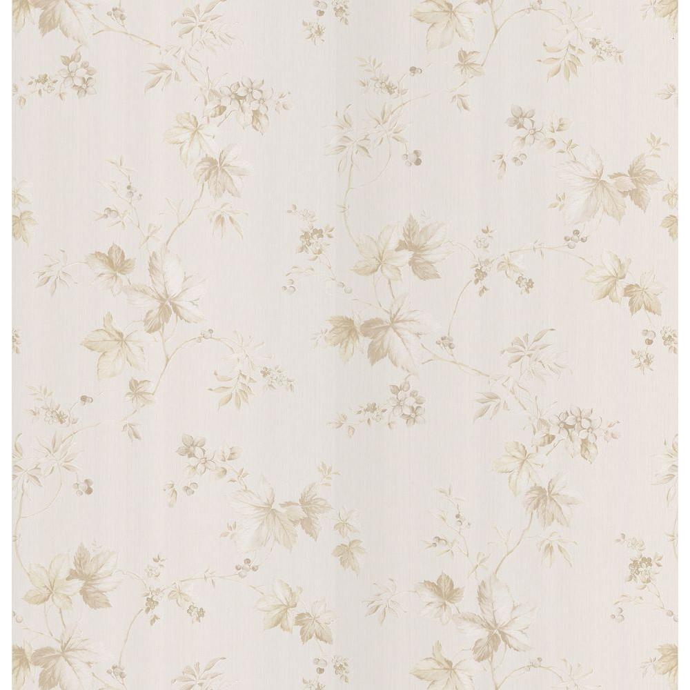 Brewster 56 sq. ft. Leaf Toss Wallpaper