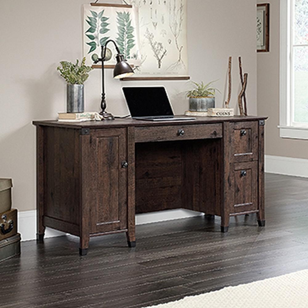 SAUDER Carson Forge Coffee Oak Computer Desk-422350