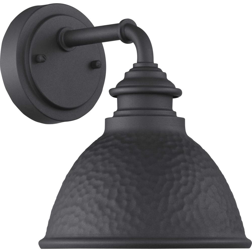 Progress Lighting Englewood Collection 1 Light Black Wall Lantern Sconce