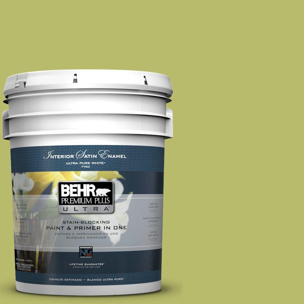BEHR Premium Plus Ultra 5-gal. #P360-5 Citrus Peel Satin Enamel Interior Paint