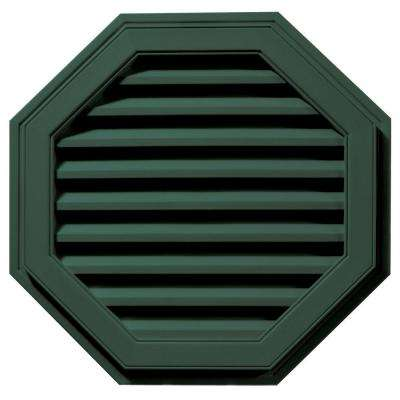 27 in. Octagon Gable Vent in Forest Green