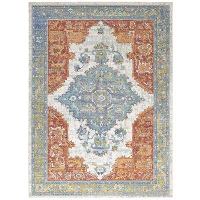 Citlali Distressed Southwestern Aztec 4 ft. x 6 ft. Area Rug in Multicolored