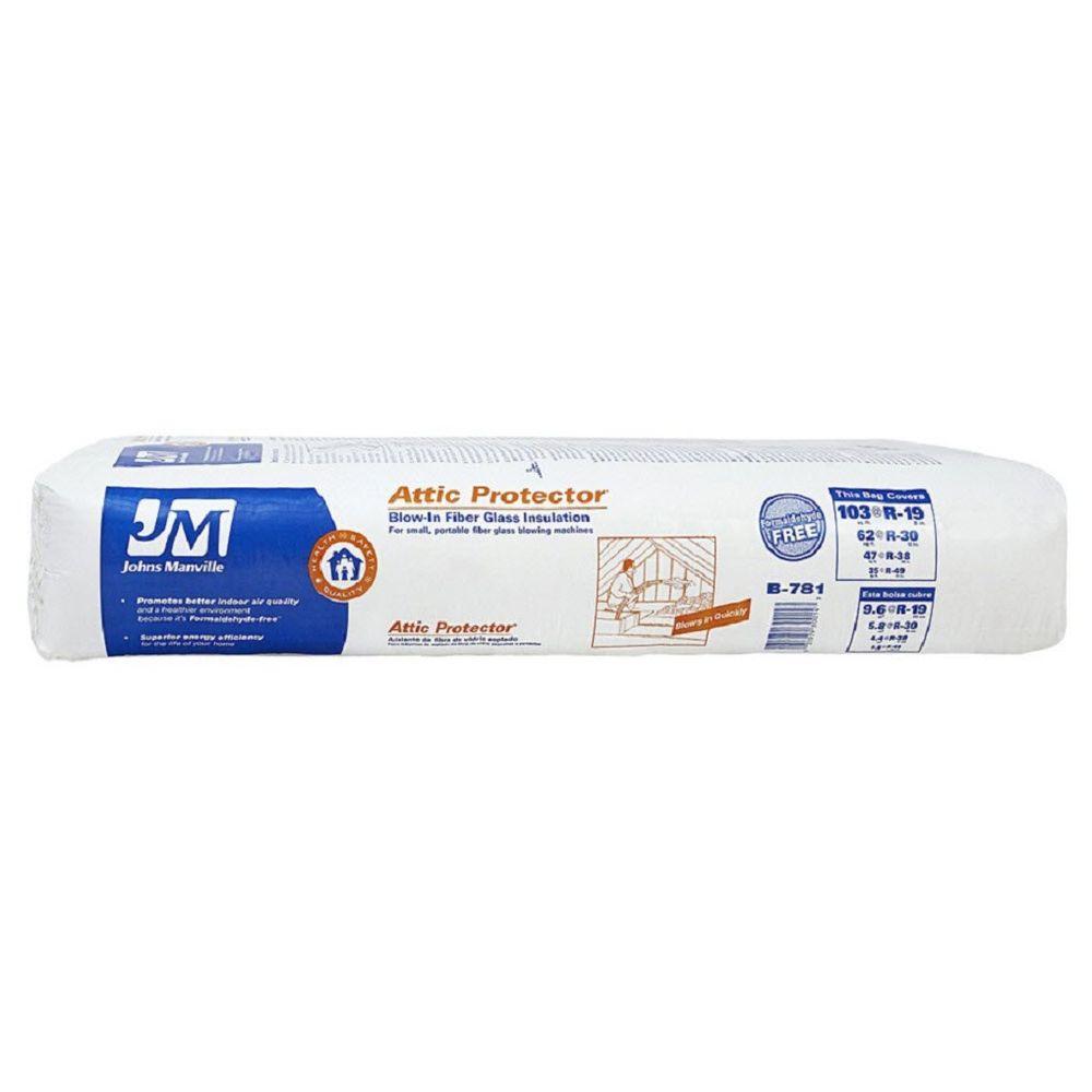 Johns Manville Attic Pro Fiberglass Blown-in Insulation  sc 1 st  Home Depot & Johns Manville Attic Pro Fiberglass Blown-in Insulation-B781 - The ...