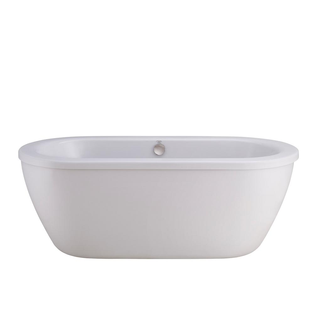 Cadet 5.5 ft. Acrylic Flatbottom Non-Whirlpool Less Tub Filler Bathtub in