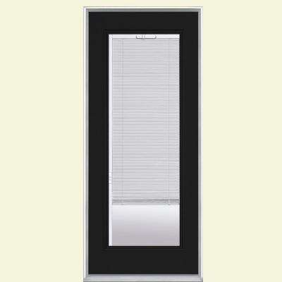 32 in. x 80 in. Full Lite Mini Blind Right-Hand Inswing Painted Steel Prehung Front Door No Brickmold