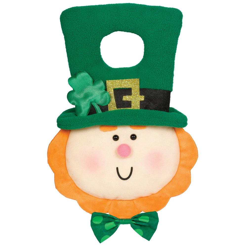 AMSCAN 12 in. St. Patrick's Day Leprechaun Plush Door Han...
