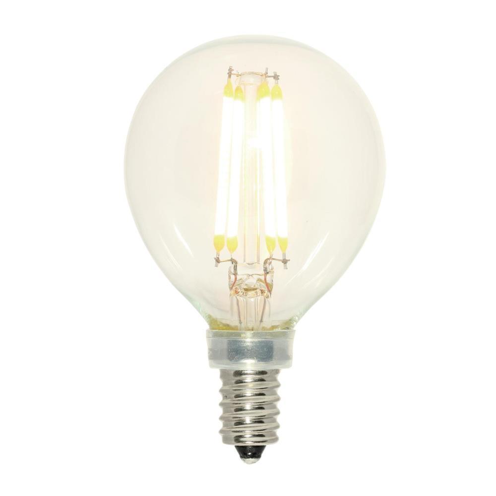 60-Watt Equivalent Clear G16-1/2 Dimmable Filament LED Light Bulb Soft White