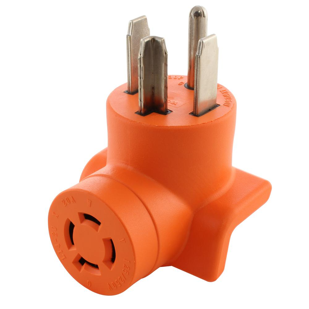 AC WORKS Dryer Outlet Adapter 4-Prong Dryer 14-30P Plug to ...