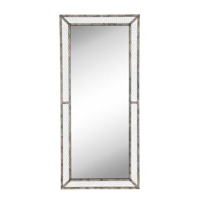 Oversized Rectangle Brown Classic Mirror (66 in. H x 30 in. W)