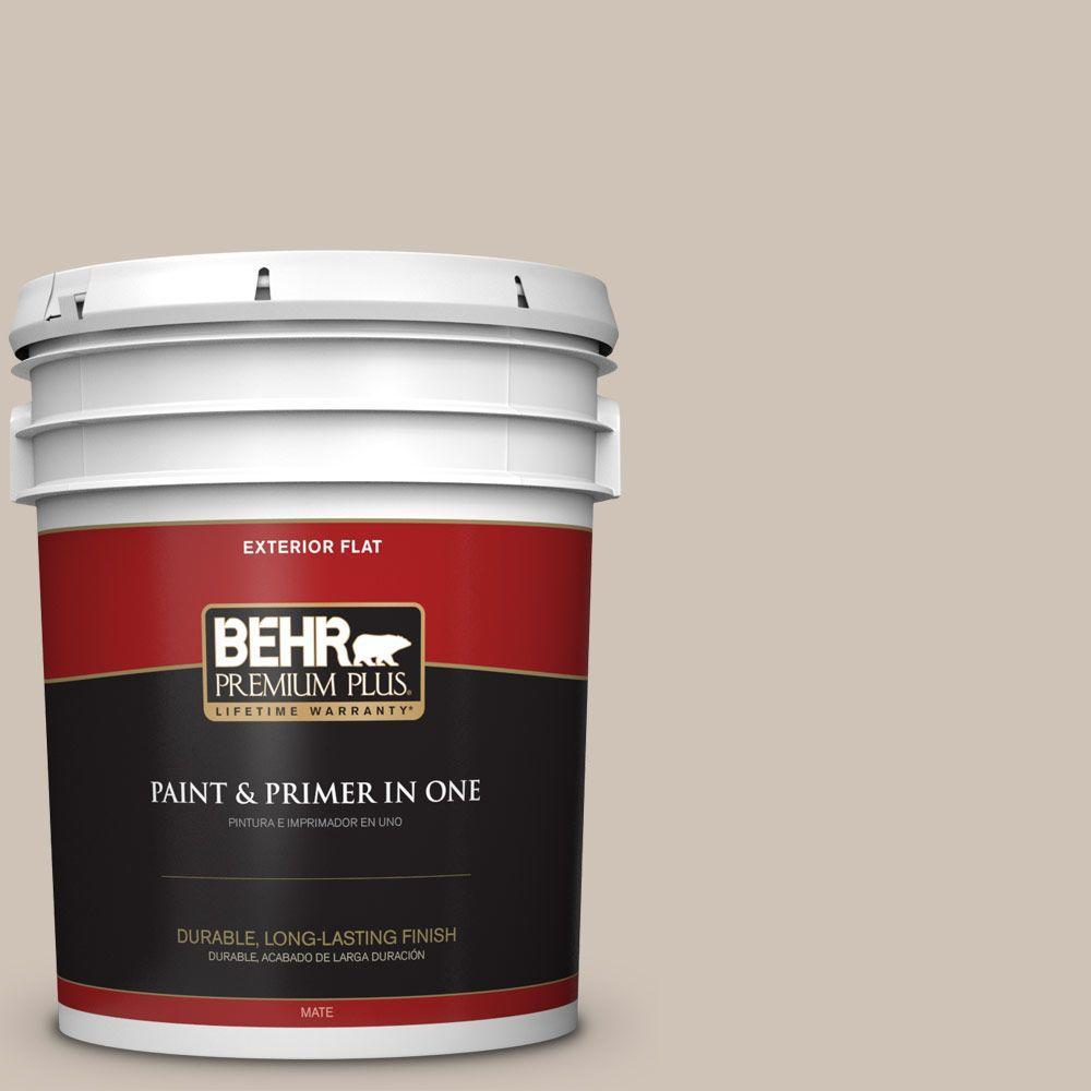 BEHR Premium Plus 5-gal. #PWN-70 Indulgent Mocha Flat Exterior Paint