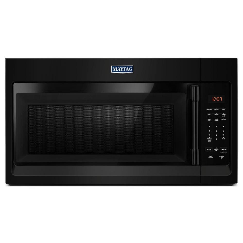 Maytag 1.7 cu. ft. Over the Range Microwave Hood in Black