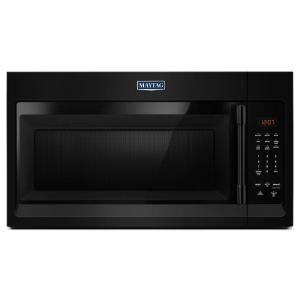 Maytag 30 In W 1 7 Cu Ft Over The Range Microwave Hood Black Mmv1174fb Home Depot
