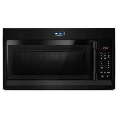 1.7 cu. ft. Over the Range Microwave Hood in Black