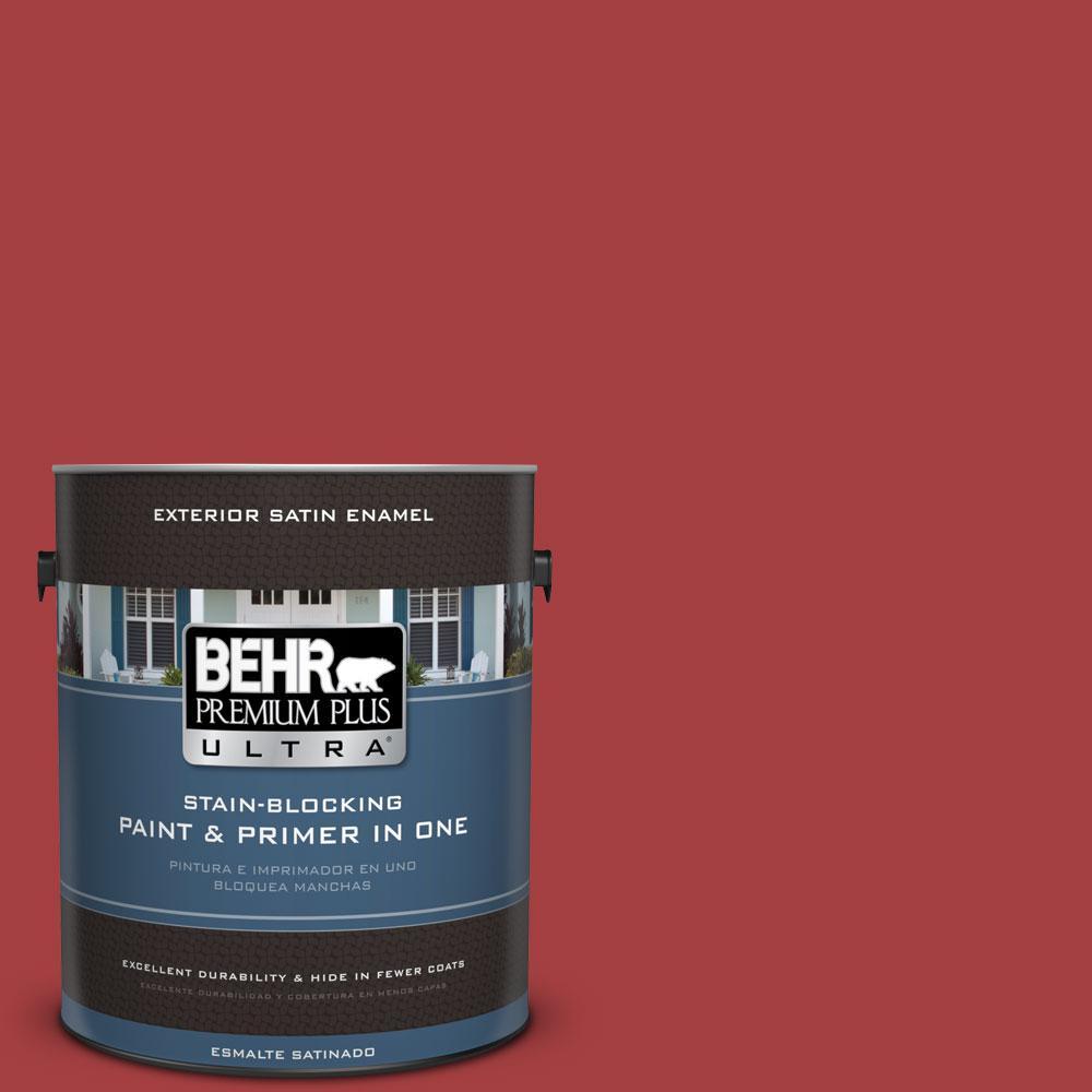 BEHR Premium Plus Ultra 1-gal. #P140-7 No More Drama Satin Enamel Exterior Paint