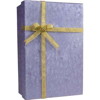 0.04 cu. ft. Steel Purple Gift Lock Box Safe with Key Lock