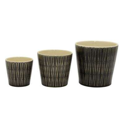 6.5 in. Ceramic Planter (Set of 3)