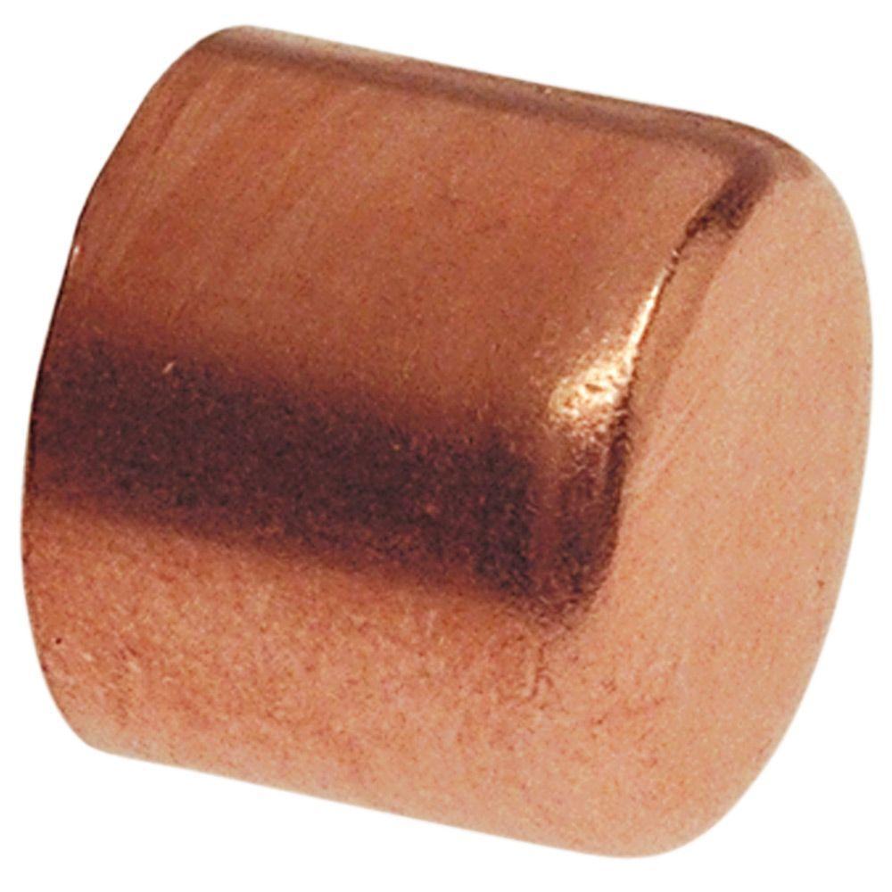 Everbilt 1-1/2 in. Copper Pressure Tube Cap Fitting