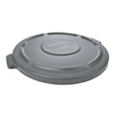 Brute 44 Gal. Grey Round Vented Trash Can Lid