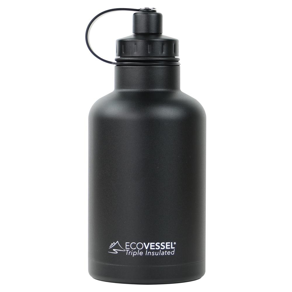 64 oz. Boss Triple Insulated Growler with Screw Cap - Black